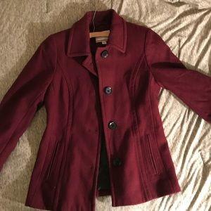 Nautica maroon pea coat